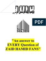An Answer to Every Question of Zaid Hamid Fans