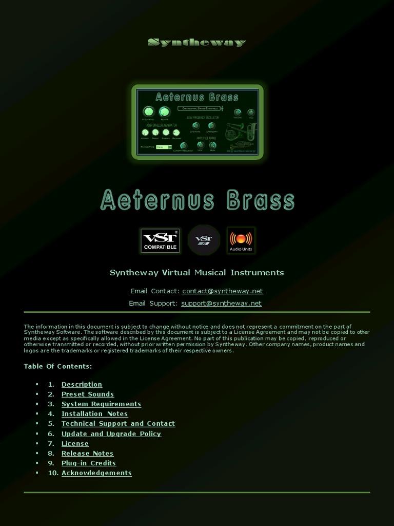 Aeternus Brass VST, VST3, Audio Unit Plugins: Virtual Trumpet