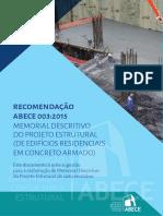 Recomendacao003 Memorial Descritivo Projeto Estrutural Online