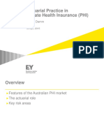 Actuarial Involvement in PHI - UNSW 2015 v2