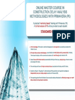 Brochure - Master Course in Delay Analysis - STANDARD EDITION