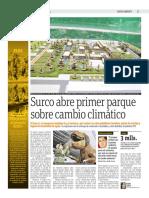 Surco Abre El Primer Parque Sobre El Cambio Climático