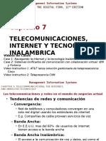 Telecomunicaciones, Internet y Tecnologia Inalambrica