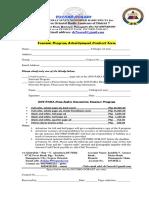 souvenir program ads contract form