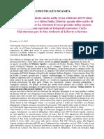 Cs Villa Zanelli Terzo Premio Al Concorso Internazionale Italia Liberty