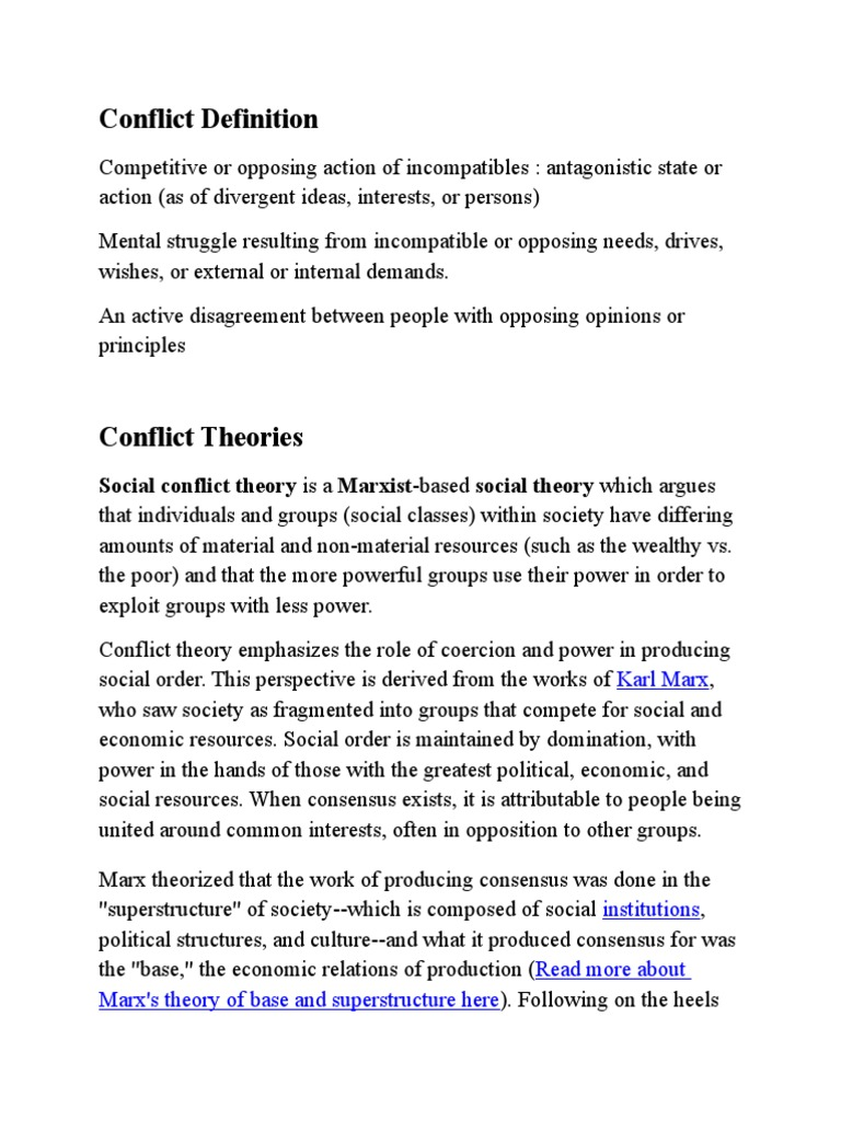 conflict theory definition