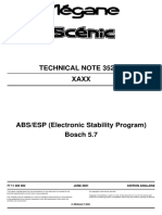 Megane Scénic ABS Bosch 5.7