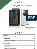 Card Phone User Manual