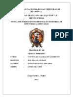 Practica Numero 10 Queso Maduro