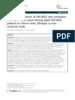 Ocular Manifestation of HIV AIDS and Correlation