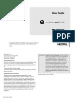 Nextel Motorola i680 Brute Manual