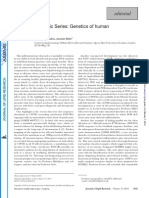- A New Thematic Series - Genetics of Human Lipid Diseases