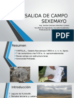 Salida de Campo Sexcemayo