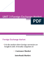 UNIT 3-Foreign Exchange Market