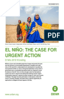 El Niño: The case for urgent action