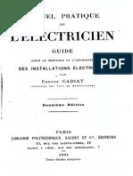 E.cadiat - Manuel Pratique de l'Electricien