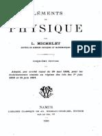 L.michelet - Elements de Physique