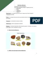 resumos de ciencias rochas