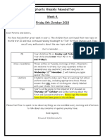 Week 4 Newsletter