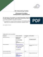 Interpreting - Service Provider List 13-14