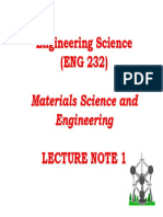 Materials Science and Engineering 01