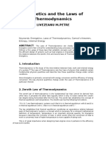 Articol Stiintific - Thermodynamic Laws in Energetics