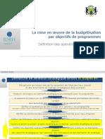 Gabon BOP Objectifs Operationels SUITE V2