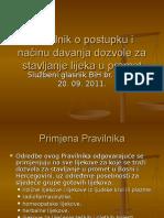 3.Pravilnik o postupku i načinu davanja dozvole za.ppt