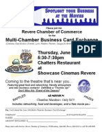 Revere Chamber Business Card Exchange JUN 2010