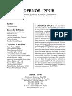 Cadernos IPPUR 23