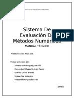 Sistema de Evaluación de Métodos Numéricos