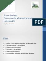 Conceptos Administracion Informacion
