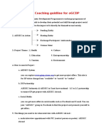 Project Coaching Guidline for OGCDP