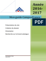Mon Guide Campusfrance 12016-2017