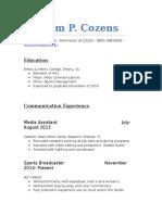 cozens resume
