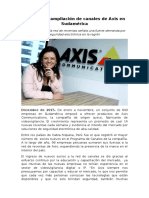 Perú lidera ampliación de canales de Axis en Sudamérica