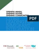 Opening Minds, Opening Doors, Opening Communities