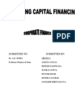 Working Capital Financing Project