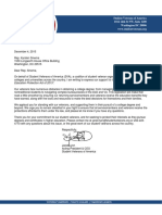 Student Veterans of America Letter of Support for Servicemember Higher Education Protection Act