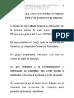 22 05 2014 Colocación de la primera piedra del Centro de Eficiencia Logística Grupo Decasa en Veracruz