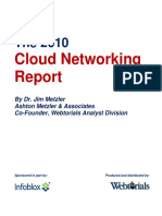 Infoblox Whitepaper 2010 Cloud Networking Report