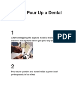 How to Pour Up a Dental Model Steps