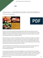 ¿Anemia__ Alimentos Ricos en Hierro! _ Nutricionista en Casa
