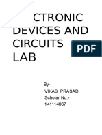 Electronic Devices and Circuit Lab