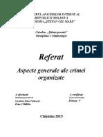 Aspecte Generale Ale Crimei Organizate