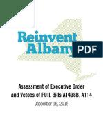 FOIL Veto and EO Assessment Dec 2015