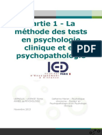 Echelle et test en psychologie clinique