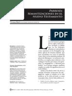 Parresía, Semantizaciones en El Nuevo Testamento (Viviana Hack)