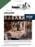 Badaraco. Un Héroe Prohibido
