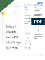Preguntas de Trigonometria UNMSM (2008-2016)